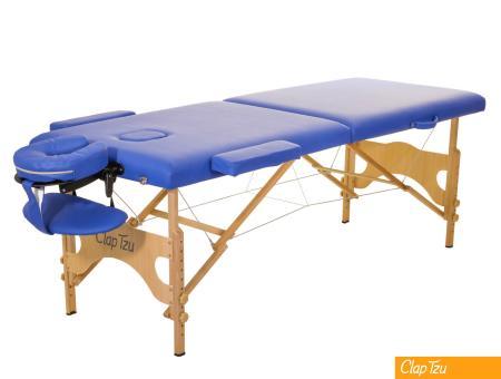 ClapTzu - Mobile Behandlungsliege Economy Comfort Set mit Zubehör marina (blau)