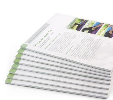 Selbsthilfe-Übung / Einzelblatt-Block Nr. 4 - Aufrichten der Wirbelsäule