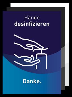 Plakat - Motiv 03 - Hände desinfizieren