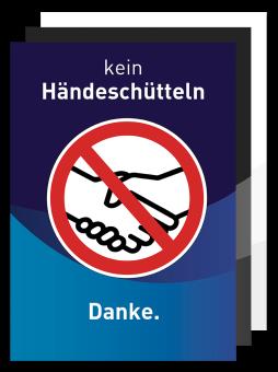 Plakat - Motiv 05 - Kein Händeschütteln