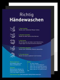 Plakat - Motiv 01 - Richtig Händewaschen