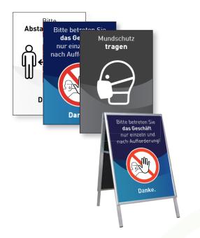 Kundenstopper-Plakat DIN A1
