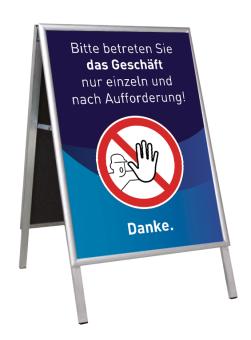 Kundenstopper ohne Plakate DIN A1